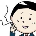 タバコを吸う若い男性